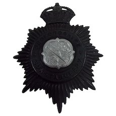 WW2 Kings Crown Bedfordshire Constabulary Police Cap Badge