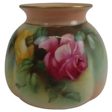 1894 Royal Worcester Blush Ivory Rose Vase