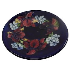Moorcroft Orchid Pattern Plate