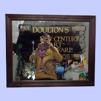 1901 Doulton's Burslem New Century Art Ware Advertising Mirror