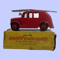 Dinky Toys 250 Streamlined Fire Engine In Its Original Box
