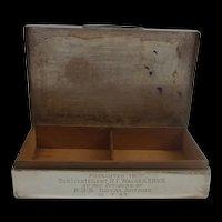 Sheffield 1939 Silver Cigarette Case HMS Port Arthur