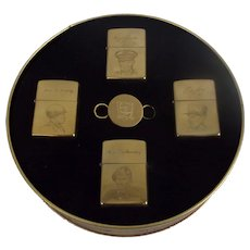 D-Day 50th Anniversary Allied Heroes Zippo Set Of Lighters In Their Tin