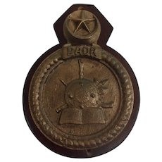Saudi Navy Badr Corvette Bronze Boat Badge