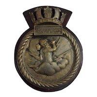HMS Thunderer 1911 Battleship Bronze Main Battery Tompion