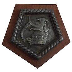 HMS Colombo 1919 Light Cruiser White Bronze Boat Badge