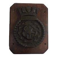 HMS Solebay Bronze 1945 Destroyer Ships Boat Badge