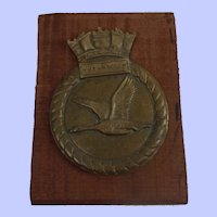 HMS Wild Goose Corvette Royal Navy Bronze Ships Boat Badge