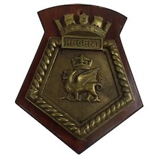 HMS Regent Royal Navy Submarine Bronze Ships Boat Badge
