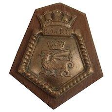 HMS Regent Royal Navy Submarine Bronze Ships Copy Boat Badge