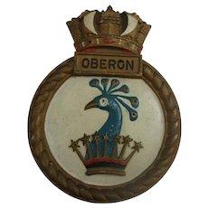 HMS Oberon 1961 Submarine Ships Crest