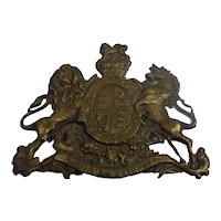 Antique Victorian Gilt Brass Shako Plate For The General Service Corps