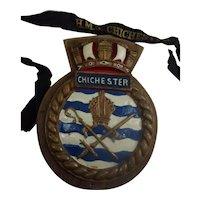 HMS Chichester Salisbury Class Frigate 1958 Steel Ships Boat Badge