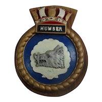 HMS Humber 1984 River Class Minesweeper Copy Aluminium Ships Crest
