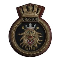 HMS Grafton Type 23 Frigate 1999 Ships Bronze Boat Badge