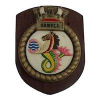 HMS Orwell O Class Destroyer 1942 Plaster Copy Plaque
