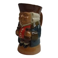 Harry Simeon For Doulton Lambeth Toby Jug Of A Gentleman Holding A Bottle And Wine Glass #1