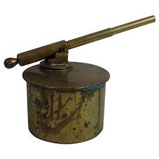 WW1 Trench Art Brass German Railway Gun Signal Cannon