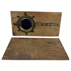 WW1 1918 Trench Art Mirror In Its Original Addressed Post Back Home Case