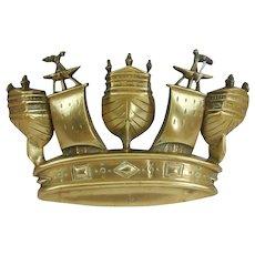 HMS Trafalgar 1890 Battleship Bronze Main Battery Tompion