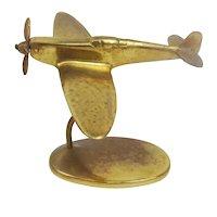 WW2 Era Brass Desktop Model RAF Supermarine Spitfire