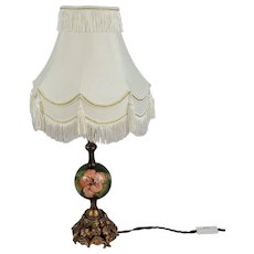 Moorcroft Magnolia Pattern Table Lamp With Shade