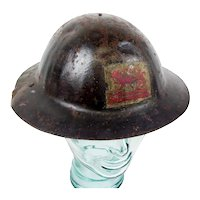 WW1 First Pattern Raw Edge Private Purchase Brodie Helmet To The Leicester Regiment