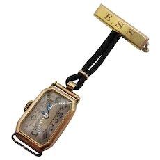 9ct Gold Nurses Fob Watch c1908 – Needs Servicing