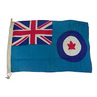 WW2 Royal Canadian Air Force Base Flag Dated 1945