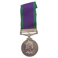 Northern Island GSM Medal - 22570500 Staff Sgt RI Rogers RCT