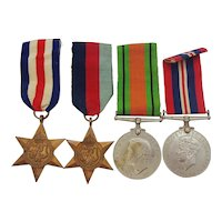 WW2 Set of 4 Medals Inc. France & Germany Star