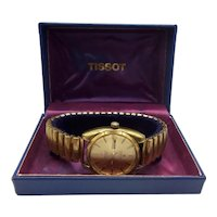 c1971 Tissot Seastar Automatic Gold Plated Wristwatch Engraved Commonwealth Games 1974