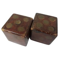 Victorian French Large Wooden Dice