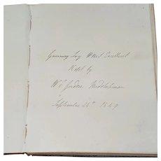 1849 Midshipman's Gunnery Log Book From HMS Excellent