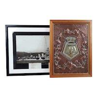 HMS Cairo 1919 C Class Light Cruiser Boat Badge And Photograph