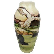 Moorcroft Bird-of-Prey Trial Vase c2017
