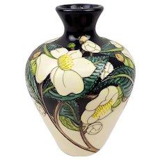 Moorcroft White Magnolia Pattern Vase No. 12/50