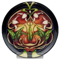 Moorcroft Stylised Orchid Pattern Plate No. 199 of 400