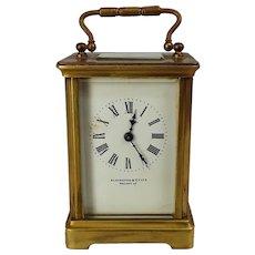 Circa 1870 Elkington & Co. Ltd. Brass Carriage Clock
