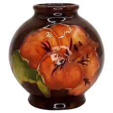 Moorcroft Miniature Hibiscus Pattern Vase