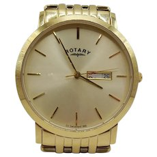 Gents Gold Plated Rotary Quartz Wristwatch