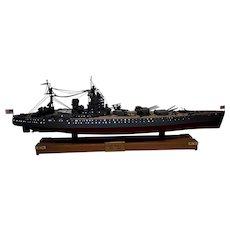 Large Finely Built And Illuminated Model Of The Battleship HMS Rodney