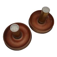 Pair Of 25 Pounder WW2 Shell Ashtrays With French Coins