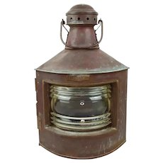 Norwegian Ships Copper Starboard Side Oil Lantern