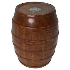 Barrel Made From The Teak Of HMS Sesame