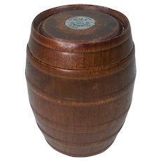 Barrel Made From The Teak Of HMS Cambrian