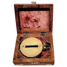 Vintage Cased Stanley Brass Prismatic Compass