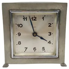 Early 20th Century Liberty Tudric Pewter Mantle Clock
