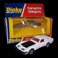 Dinky Toys No. 221 Corvette Stingray In White, Boxed 1976