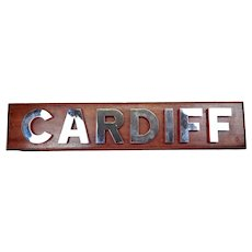 HMS Cardiff (D108) Type 42 Destroyer Name Board
